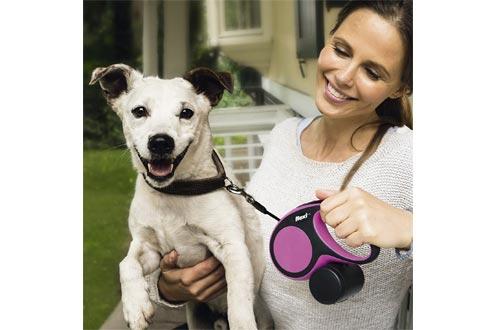 FLEXI Comfort Retractable Dog Leash in Pink