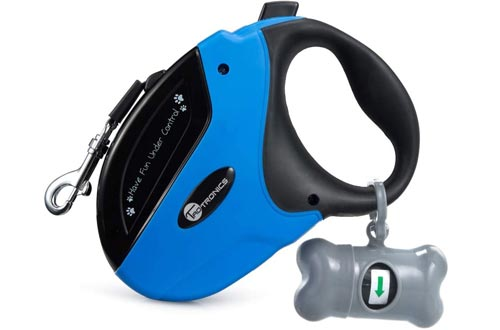TaoTronics Retractable Dog Leash, 16 ft Dog Walking Leash for Medium Large Dogs up to 110lbs, Tangle Free, One Button Break & Lock