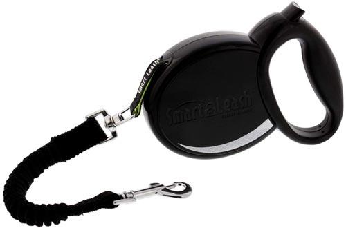 SmartLeash Retractable Dog Leash - Heavy Duty Dog Leash Auto-Locks Like a Seatbelt for Worry-Free Walks - One Button Brake & Lock