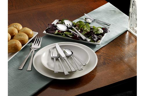 Mikasa 5060761 Harmony 65-Piece 18/10 Stainless Steel Flatware Set with Serving Utensil Set