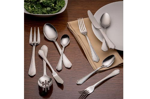 Cambridge Silversmiths Blossom Sand 20-Piece Flatware Silverware Set