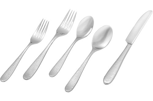 Amazon Brand – Stone & Beam Traditional Stainless Steel Flatware Silverware Set