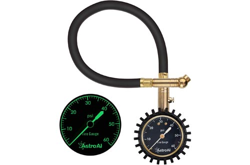 AstroAI Tire Pressure Gauge Expert, 0-60 PSI, Certified ANSI B40.1 Accurate with Improved Needle and Chuck, for Fathers Day