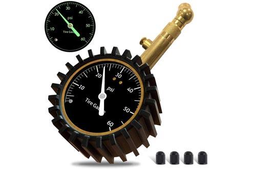 GLISTON Car Tire Pressure Gauge, Tire Pressure Gauge, Heavy Duty Tire Air Pressure Gauge for Car