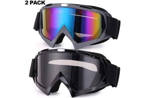 Rngeo Ski Goggles, 2 Pack Snowboard Glasses