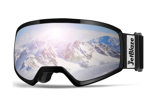 JetBlaze Ski Goggles, OTG Anti-Fog Snow Goggles