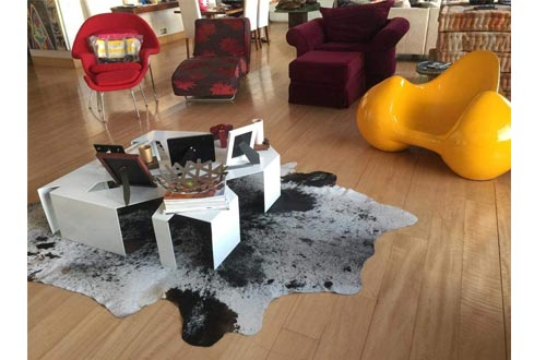 Grey Salt & Pepper Cowhide Rug
