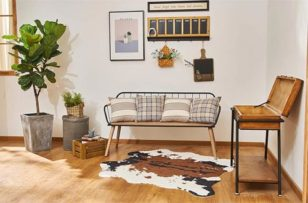 NativeSkins Faux Cowhide Rug