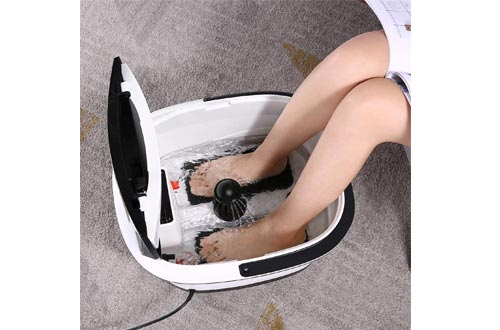TubyTime Foot Spa Bath Massager with Heat and Bubble Jets