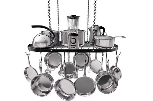 VDOMUS Pot Rack Ceiling Mount Cookware Rack