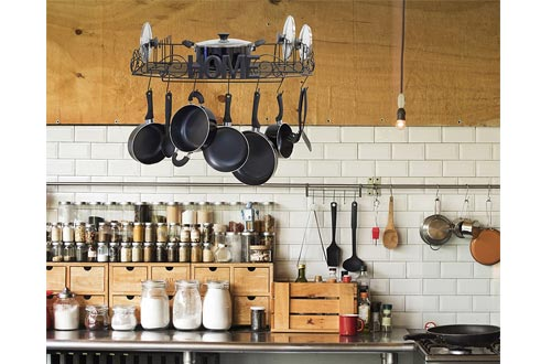 Decorative Hanging Pot Rack for Kitchen