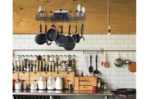 Decorative Hanging Pot Rack for Kitchen