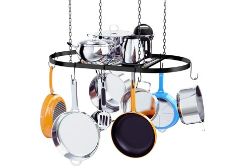 Kaptron Pot Rack Ceiling Mount Cookware Pan Rack