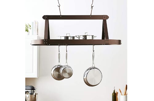 Old Dutch Oval Hanging Pot Rack with Grid