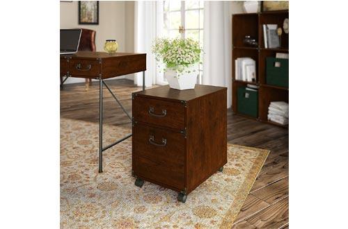 Bush Furniture kathy ireland Home Ironworks 2 Drawer Mobile File Cabinet