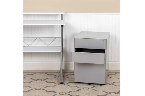 Flash Furniture Modern 3-Drawer Mobile Locking Filing Cabinet