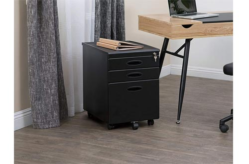 3-Drawer Mobile File Cabinet Assembled
