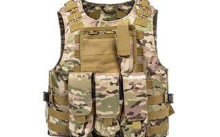 FixtureDisplays Tactical Molle Airsoft Vest Paintball Combat Soft Vest