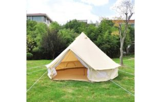 akonasda India yurt Light Khaki Cotton Canvas Bell Tent