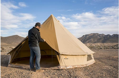 TETON Sports Sierra Canvas Tent; Waterproof Bell Tent for Family Camping
