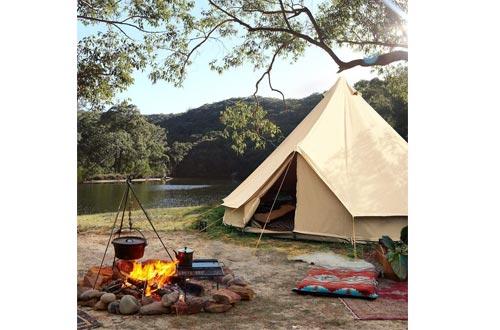 UNISTRENGH 4 Season Large Waterproof Cotton Canvas Bell Tent