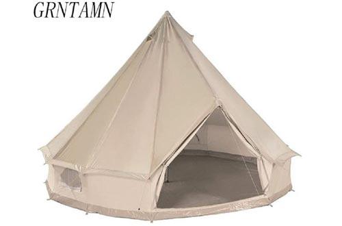 GRNTAMN Four Season Cotton Canvas Bell Tent Waterproof Winter Yurt Tent
