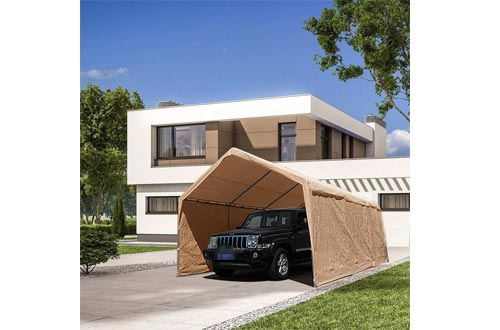 Abba Patio Extra Large Heavy Duty Carport with Removable Sidewalls