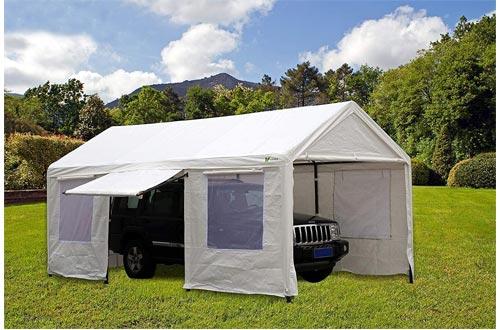 SORARA Carport 10 x 20 ft Heavy Duty Canopy Garage Car Shelter