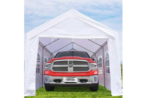 KING BIRD 10 x 20 ft Upgraded Heavy Duty Carport Car Canopy with Removable Sidewalls, Portable Garage Tent Boat Shelter
