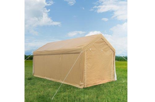 Quictent 10'x20' Carport Heavy Duty Car Canopy Galvanized Car Shelter