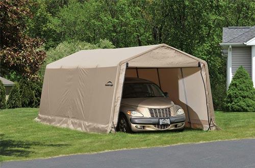 ShelterLogic All-Steel Metal Frame Roof Instant Garage and AutoShelter
