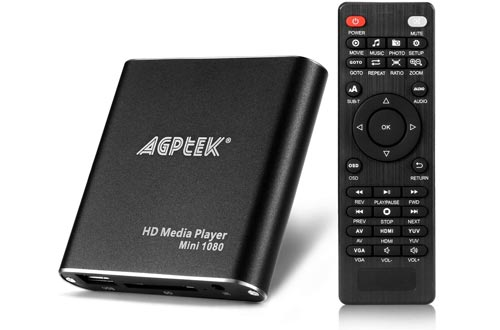 Black Mini 1080p Full-HD Ultra HDMI Digital Media Player
