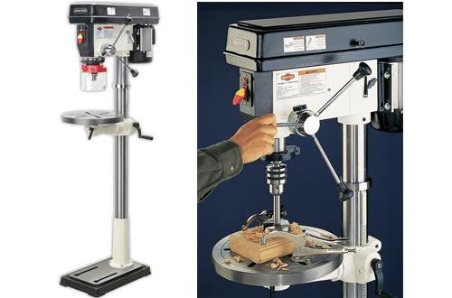 SHOP FOX W1680 1-Horsepower 17-Inch Floor Model Drill Press