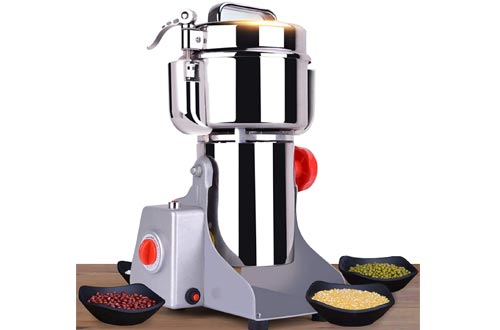 CGOLDENWALL 700g Safety Upgraded Electric Grain Grinder Mill