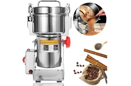 NEWTRY 700g Electric Grain Grinder Spice Mill 2400W Stainless Steel High-speed Food Mill