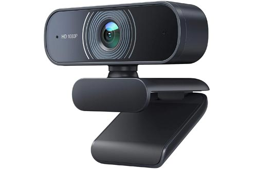 Victure Webcam with Dual Microphones, 1080P Full HD Streaming Webcam for PC
