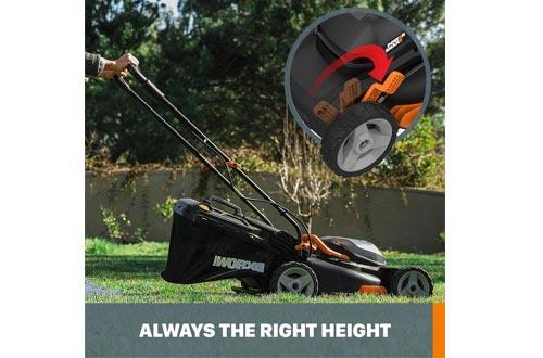 "Worx WG743 40V PowerShare 4.0Ah 17"" Lawn Mower"