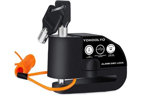 YOHOOLYO Disc Lock Alarm Motorcycle Alarm Padlock