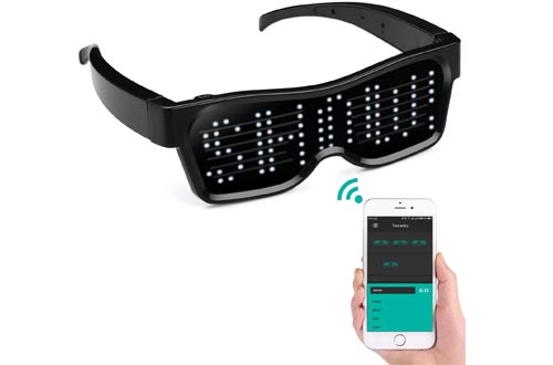 Bluetooth APP Connected LED Display Smart Glasses