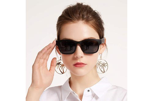 GELETE Smart Glasses Wireless Bluetooth Sunglasses Open Ear Music&Hands-Free Calling