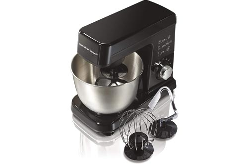 Hamilton Beach 6 Speed Electric Stand Mixer with Stainless Steel 3.5 Quart Bowl