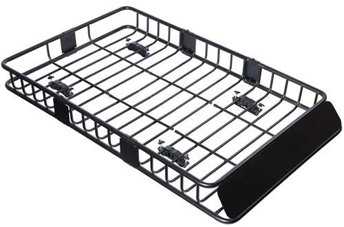 """Tiptiper Roof Basket, 64""""/43""""Universal Roof Rack Cargo Basket"""