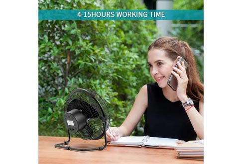 Battery Operated Fan with Timer