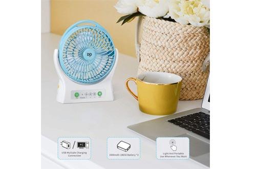 DP Battery Operated Desk Fan