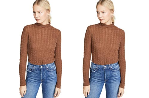 Theory Women's Cable Cashmere Sweater