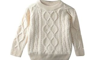LOSORN ZPY Toddler Baby Boy Girl Cable Knit Pullover Sweater