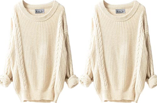 Liny Xin Women's Cashmere Oversized Loose Knitted