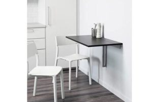 Ikea BJURSTA drop-leaf table