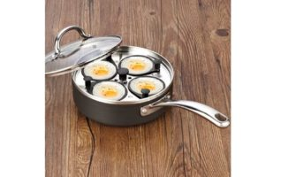 Cooks Standard 4 Cup Nonstick Hard Anodized Egg Poacher Pan