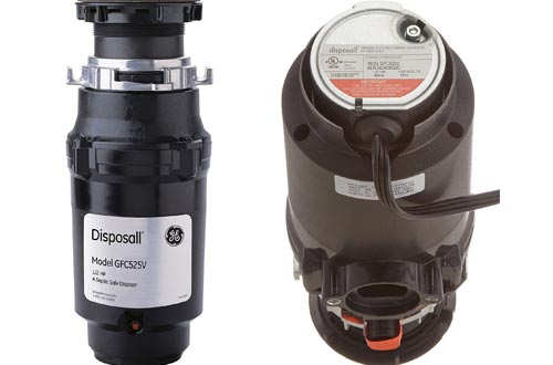 GE GFC525V .5 Horsepower Continuous Feed Disposal Food Waste Disposer